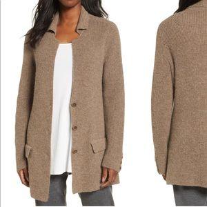 Eileen Fisher Alpaca Sweater Jacket
